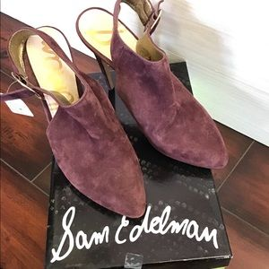 Sam Edelman Shoes - Brand new Sam Edelman purple suede heels